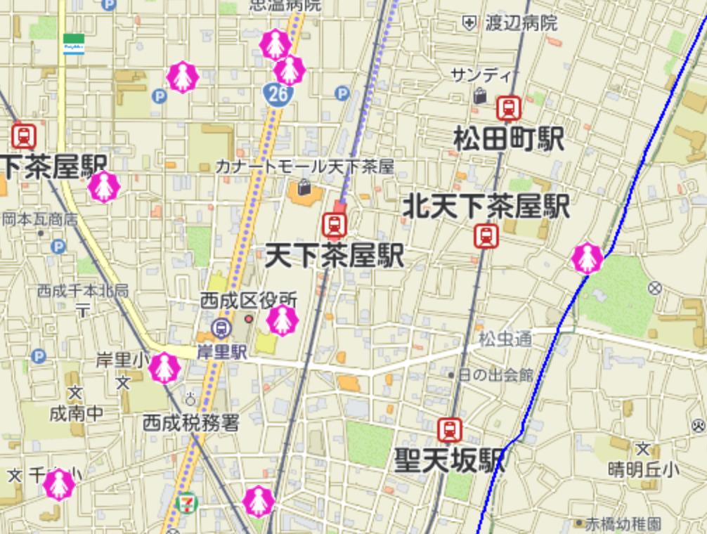 2020年天下茶屋駅女性被害犯罪MAP