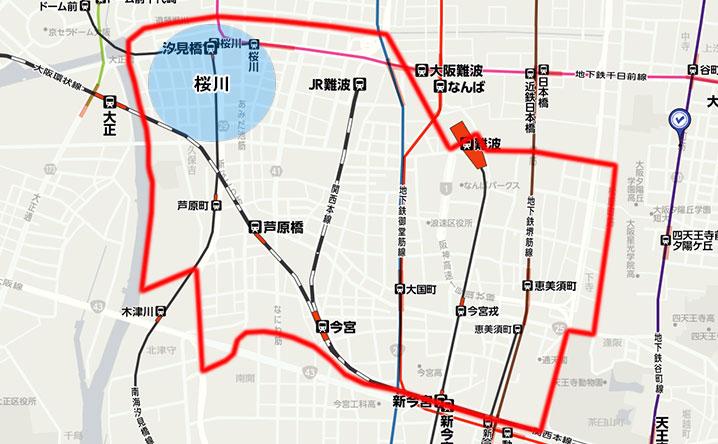 桜川の地図・マップ