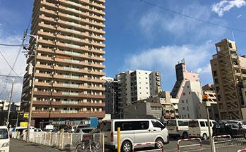 街並み3(カスタリアタワー長堀橋)